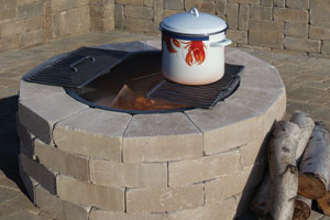 Olde English Round Barbeque U0026 Fire Pit Kit