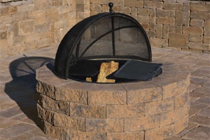 Pyzique Round Barbeque & Fire Pit Kit