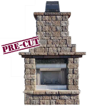 Bon Cambridge Pre Packaged MaytRx Wall Outdoor Fireplace Kit