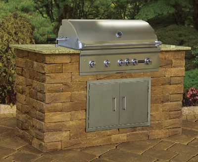 Cambridge Pre-Cut & Pre-Packaged Ledgestone Wall Grill Module Kit
