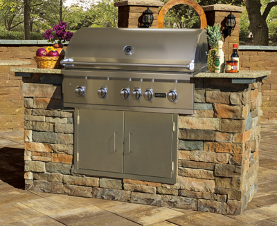 Outdoor Natural Gas Grill Built In Stone