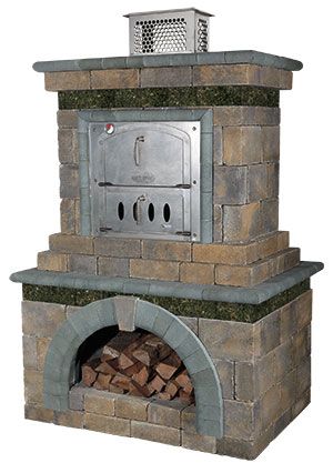 Cambridge Fully Assembled Pizza Oven  Outdoor Fireplace And Pizza Oven