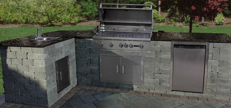 Cambridge Pavingstones - Cambridge Outdoor Kitchen Kit