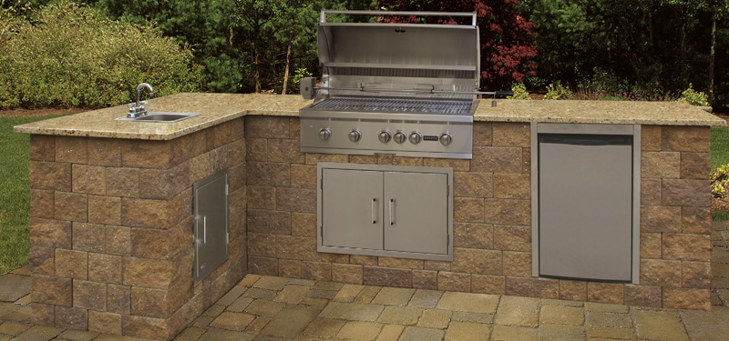 Kitchens cambridge pavingstones outdoor living for Ready made outdoor kitchen