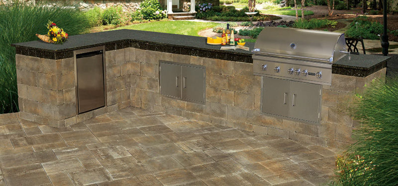 outdoor kitchen kits prefab cambridge fully assembled outdoor kitchen kitchens pavingstones living solutions with