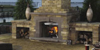 Olde English Outdoor Fireplace