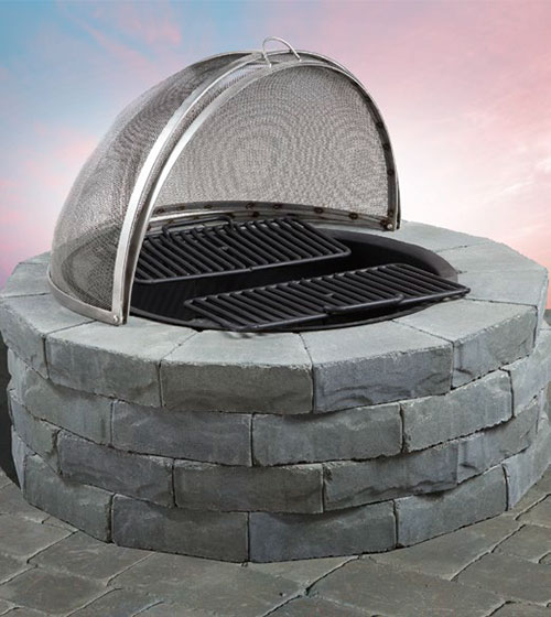 Pre-Packaged Ledgestone Round Barbeque & Fire Pit Kit