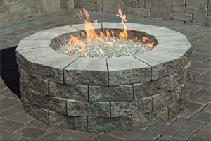 Pre Packaged Cambridge Pyzique Round Gas Fire Pit Kit