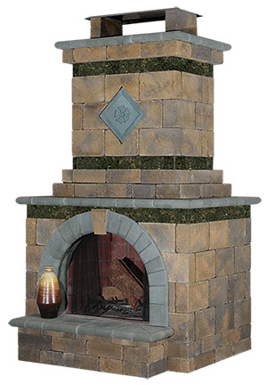 Cambridge Fully Embled Outdoor Fireplace