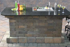 Bar Modules Cambridge Pavingstones Outdoor Living Solutions With