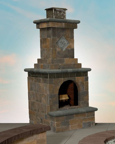 Mini Fully-Assembled Olde English Fireplace