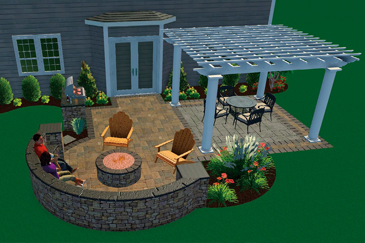 YOUR VERY OWN OUTDOOR LIVING SPACE - Add on a 16x16 Paver Patio Extension with High Strength Fiberglass Pergola Kit