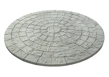 Ledgestone Circle Design Kit<br />Includes: 7 special shapes.  Makes a 10.33' circle.<br />110 sq. ft. per cube